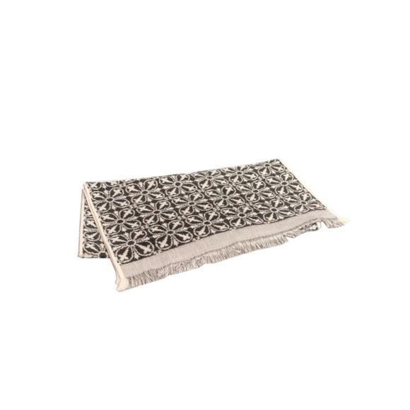Asciugamano viso in cotone jacquard fantasia grigio 50x100