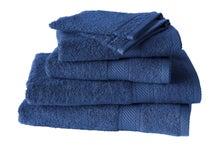 Achat en ligne Lot de 4 serviettes + 2 gants éponges uni bleu indigo