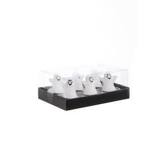 Bougies chauffe-plat Halloween fantôme blanc 6 pièces