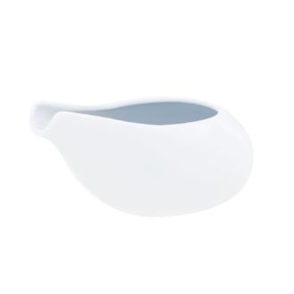 Mini saucière en porcelaine blanche, 6x10cm