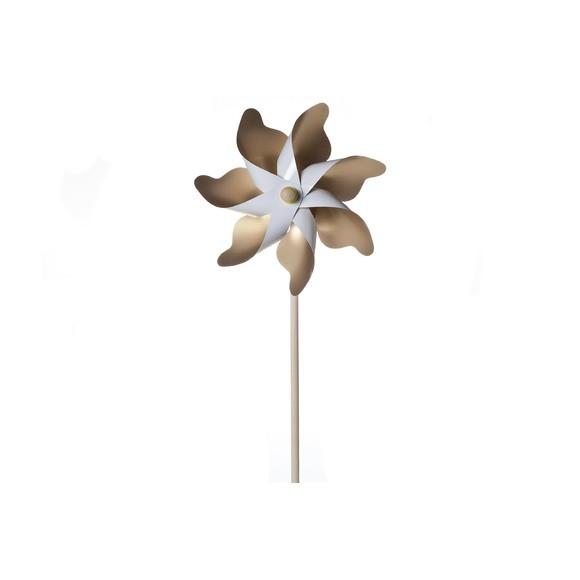 Moulin à vent en papier blanc et doré H46xD22cm