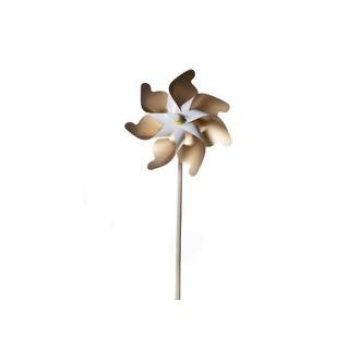 Moulin à vent en papier blanc et doré h60xd30cm