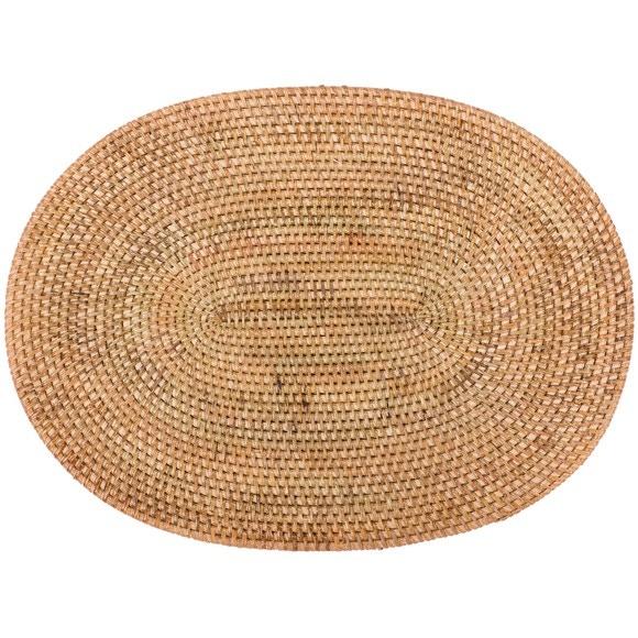 Set de table oval naturel 30x40 cm