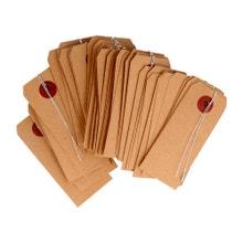 Achat en ligne Set de 50 étiquettes en papier kraft avec fil en métal 4x9cm