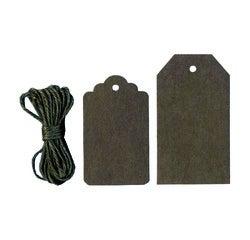Achat en ligne Set 12 étiquettes papier kraft marron 7,5x4,5cm, 9x5cm