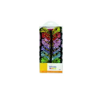 ARTEMIO - Set de 6 papillons multi-couleurs 8cm