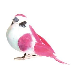 ARTEMIO - Set de 3 oiseaux sur pinces à accrocher avec couleurs assorties 9x4,5cm