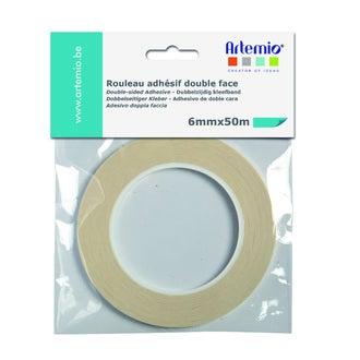 ARTEMIO - Bande adhesive double face 6mmx50m