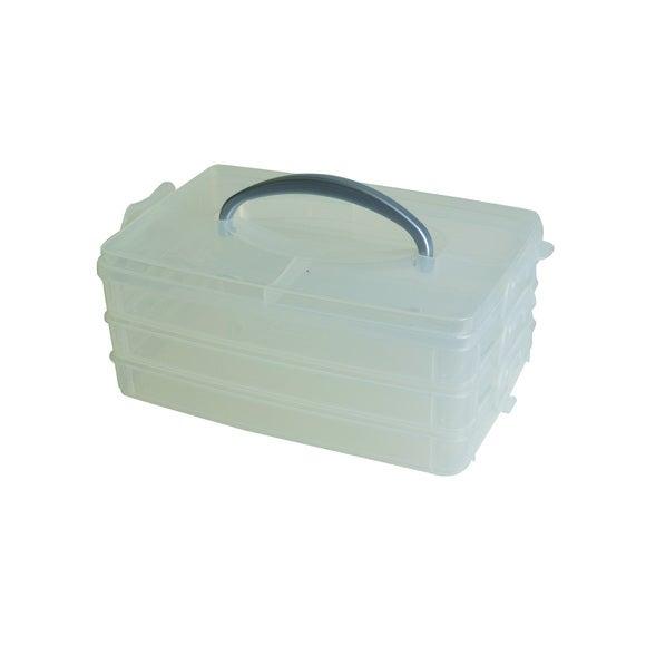 Boîte de rangement en plastique avec poignée 23x15,6x10cm