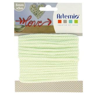 Fil tricotin polyester vert d'eau 5mmx5m