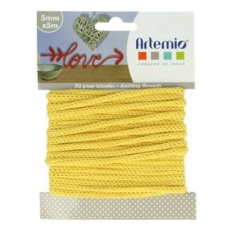 ARTEMIO - Fil tricotin polyester jaune 5mmx5m