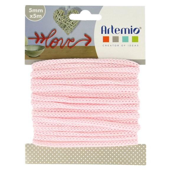 Achat en ligne Fil tricotin polyester rose pastel 5mmx5m