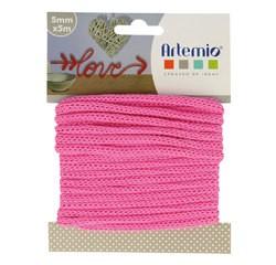 Achat en ligne Fil tricotin polyester fuschia 5mmx5m