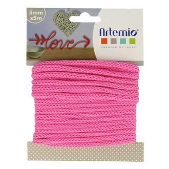 ARTEMIO - Fil tricotin polyester fuschia 5mmx5m