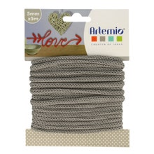 Achat en ligne Fil tricotin polyester gris 5mmx5m