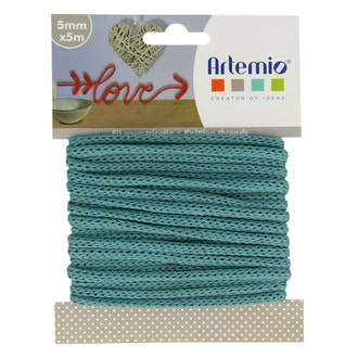 Fil tricotin polyester turquoise 5mmx5m