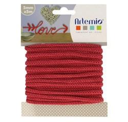 Achat en ligne Fil tricotin polyester rouge 5mmx5m