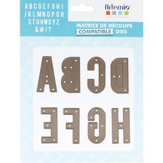 ARTEMIO - Lot de matrice de découpe dies alphabet 48mm