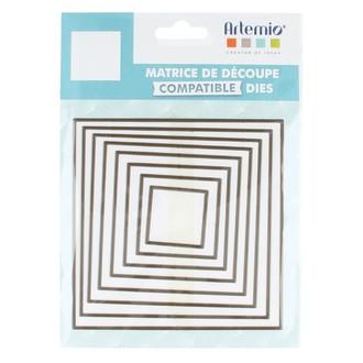 ARTEMIO - Lot de 8 matrice de découpe dies grand carrés