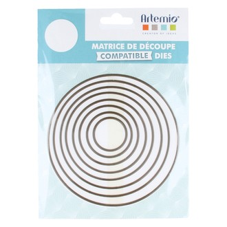 Lot de 8 matrice de découpe dies grand cercles