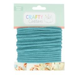 Achat en ligne Fil tricotin polyester bleu sarcelle 5mmx5m