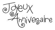 Achat en ligne Tampon joyeux anniversaire