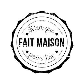 ARTEMIO - Tampon bois rond Amour FAIT MAISON