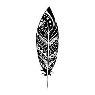 ARTEMIO - D Tampon bois plume déco 26x75
