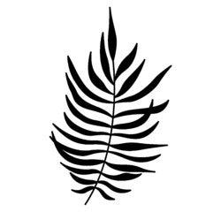 Achat en ligne F Tampon bois feuille fougère 45x70