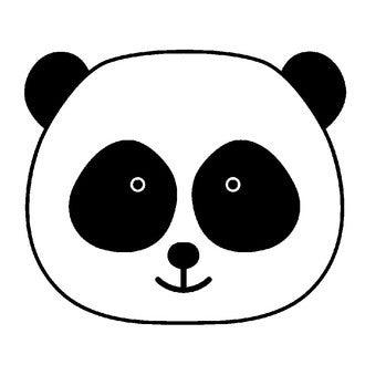 ARTEMIO - Tampon bois tête de panda 26x26