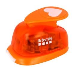 compra en línea Perforadora grande en froma de corazón naranja Artemio