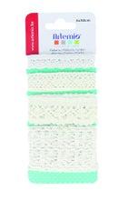 Achat en ligne Set de 4 rubans en dentelle blanche pour embellissement 50cm