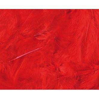 ARTEMIO - Set de 20 plumes duvetées rouges en pot 3 g