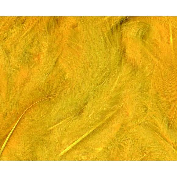 Set de 20 plumes duvetées jaunes en pot 3 g