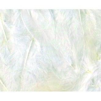 Set de 20 plumes duvetées blanches en pot 3 g