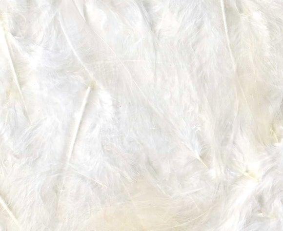 Achat en ligne Set de 20 plumes duvetées blanches en pot 3 g