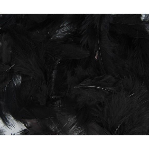 Achat en ligne Set de 20 plumes duvetées noires en pot 3 g