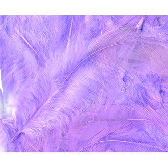 ARTEMIO - Set de 20 plumes duvetées mauves claires en pot 3 g