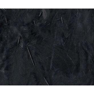 ARTEMIO - Set de 20 plumes duvetées noires en pot 3 g