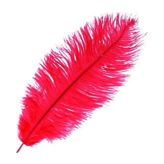 ARTEMIO - Plume d'autruche rouge 30-35cm
