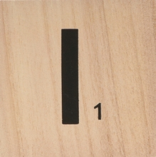 Achat en ligne Lettre I scrabble en bois 10x10x0,6cm
