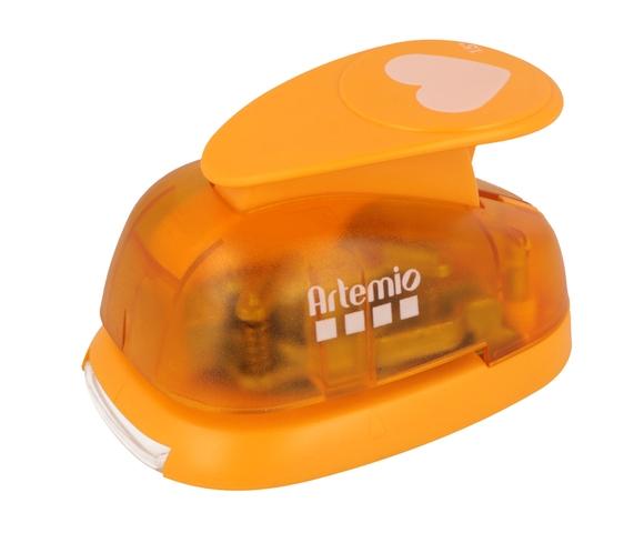Achat en ligne Grande perforatrice cœur orange 3,5 cm