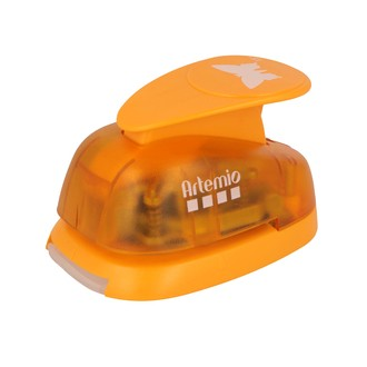 ARTEMIO - Grande perforatrice papillon orange 3,5 cm