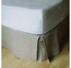 compra en línea Cubre canapé o falda de cama beige (90 x 190 x 30 cm)