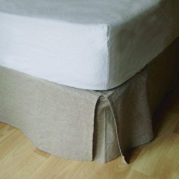 Achat en ligne Cache sommier beige 140X190cm Hauteur 30cm