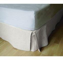 compra en línea Cubre canapé o falda de cama blanco roto (90 x 190 x 30 cm)