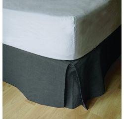 compra en línea Cubre canapé o falda de cama gris (90 x 190 x 30 cm)