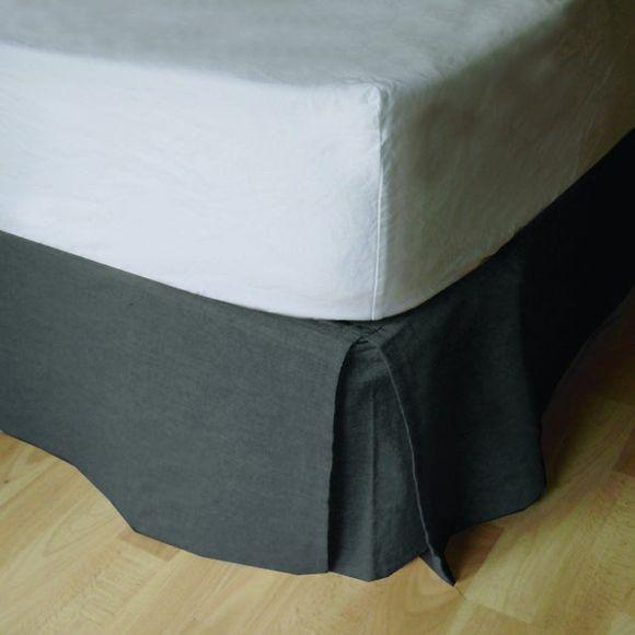 Achat en ligne Cache sommier gris 160X200cm Hauteur 30cm