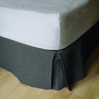 Cache sommier gris 180X200cm - Hauteur 30cm