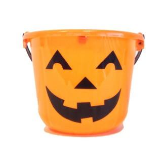 Seau halloween citrouille orange d22xh17